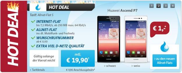 Sparhandy Allnet-Flat S mit Huawei Ascend P7