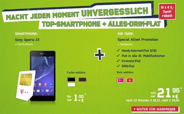 Special Allnet (md) mit Sony Xperia Z2