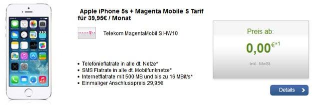 Telekom Magenta Mobil S mit iPhone 5s