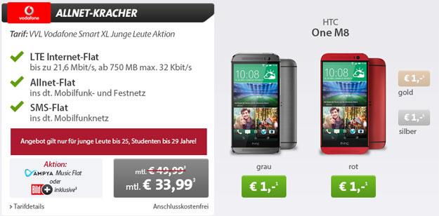 Vodafone Smart XL JL mit HTC One (M8) u.a.