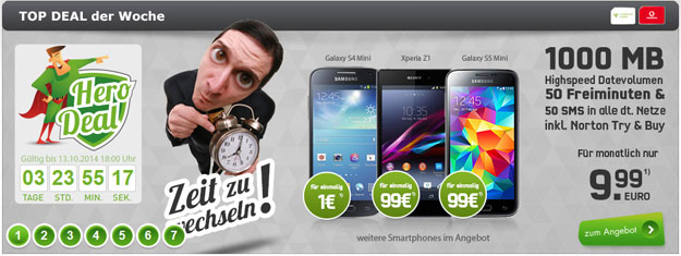 Vodafone Smart Surf (md) mit Samsung Galaxy S4 Mini, S5 Mini