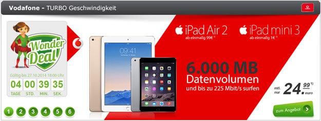 6 GB LTE-Datenflat mit iPad Mini 3 und iPad Air 2