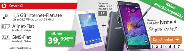 Vodafone Smart XL mit Smartphone und Tablet