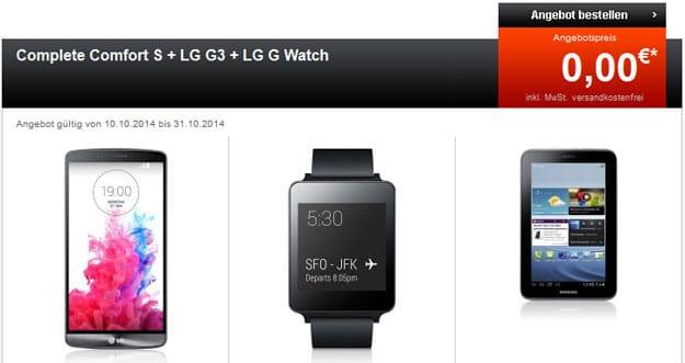 Telekom Comfort S mit LG G3, G Watch und Tab 2 (7.0)