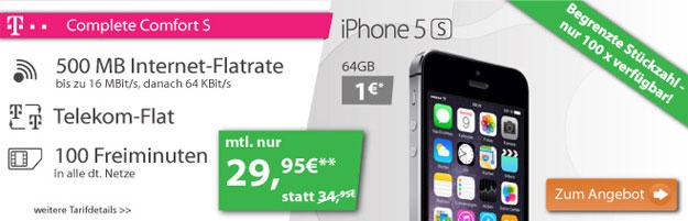 Telekom Complete Comfort S mit iPhone 5s 64GB