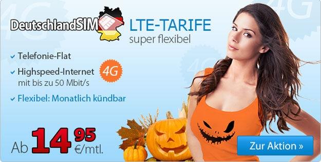 DeutschlandSIM LTE-Tarife zu Halloween