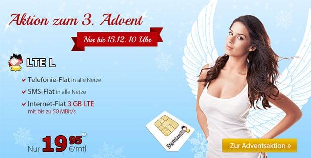DeutschlandSIM LTE L zum Advent