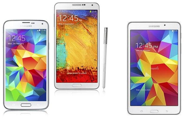 Samsung Galaxy S5, Note 3 + Tab 4 (7.0)