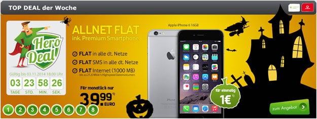 iPhone 6 + Real Allnet Vodafone