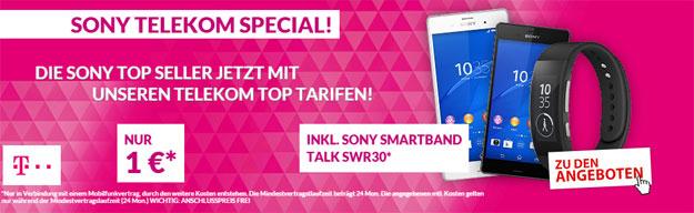 Telekom MagentaMobil S mit Sony Xperia Z3 + Smartwatch