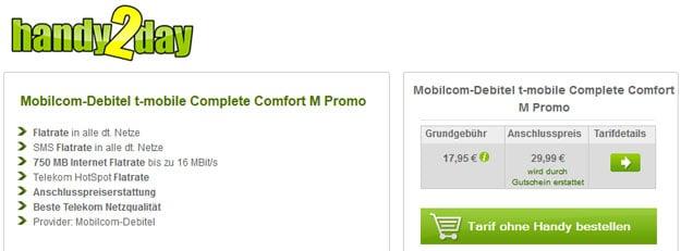 md Telekom Complete Comfort M für 17,95 € mtl.