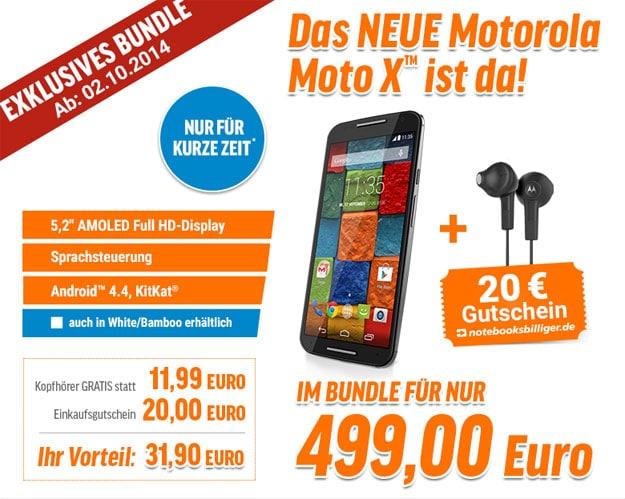 Motorola Moto X (2. Generation) für 499 €
