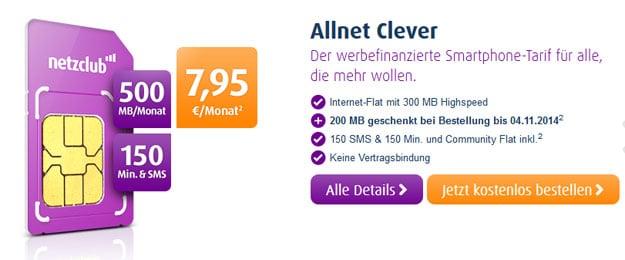 Netzclub Allnet Clever