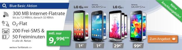 o2 Blue Basic mit LG G3s, S5 Mini