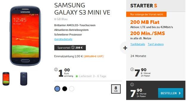 Samsung Galaxy S3 Mini + Starter S