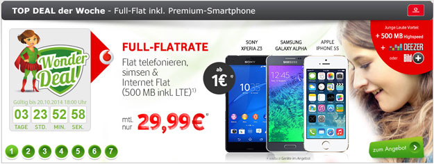 Vodafone Smart L im Wonder-Deal