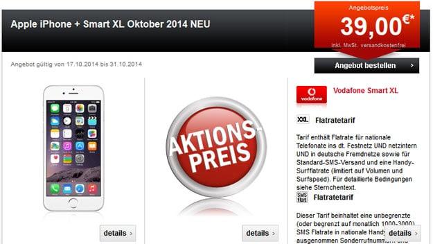 Vodafone Smart XL mit iPhone 6