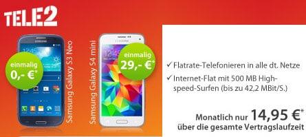 Tele 2 Allnet mit Samsung Galaxy