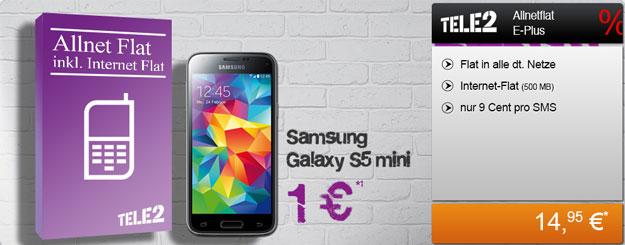 Tele2 Allnet-Flat mit Samsung Galaxy S5 Mini