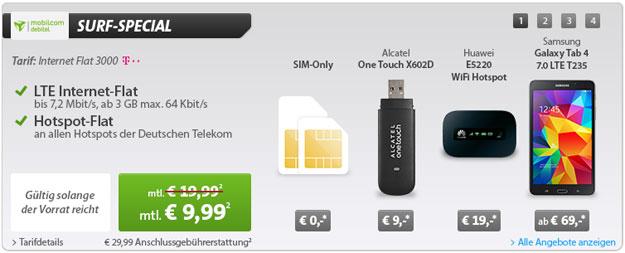 Telekom Flat 3000 für 9,99 € im Monat