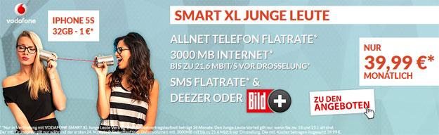 Vodafone Smart XL / XL Junge Leute + iPhone 5s 32GB