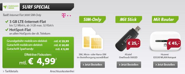 3 GB LTE-Flat der Telekom