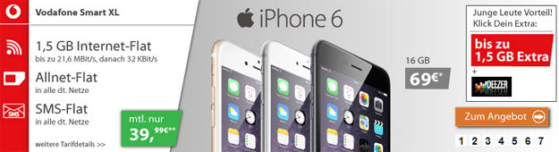 Vodafone Smart XL - iPhone 6
