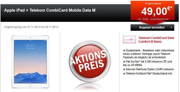 Combi Data Comfort M mit iPad Air 2