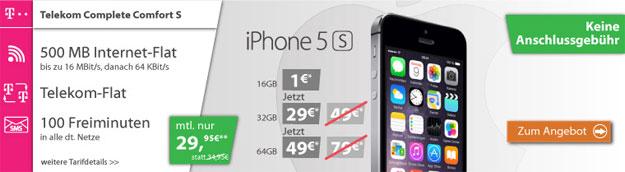 Telekom Complete Comfort S + iPhone 5s