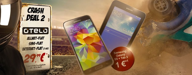 Otelo Allnet-Flat XL mit Samsung Galaxy S5 + Tab 3 (7.0) Lite