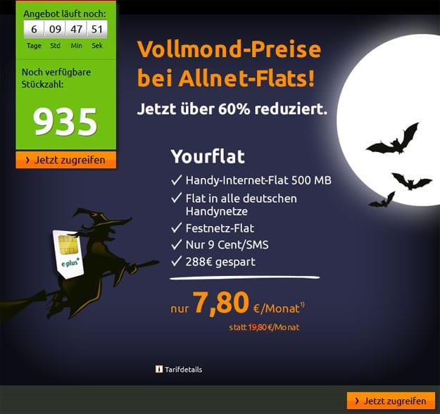 Crash Yourflat mit 288 € Auszahlung