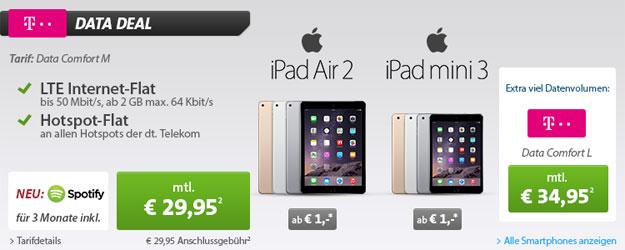 Data Comfort M mit iPad Air 2 und iPad Mini 3