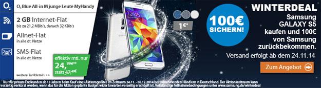 Samsung Galaxy S5 im Winterdeal mit o2 Blue All-in M JL