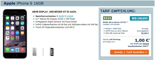 iPhone 6 mit BASE all-in