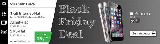 iPhone 6 zur Otelo Allnet-Flat XL am Black Friday