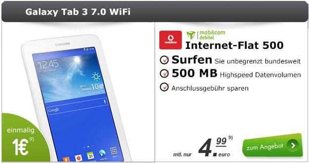 md Vodafone Internet-Flat 500 + Samsung Galaxy Tab 3 (7.0) Lite