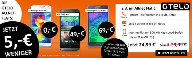 Otelo Allnet-Flat L mit Samsung Galaxy S5