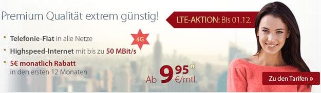 PremiumSIM LTE-Tarife ab 9,95 € mtl.