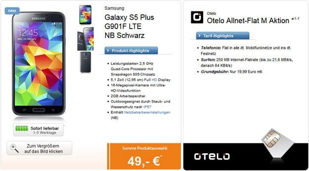 Samsung Galaxy S5 Plus zur Otelo Allnet-Flat M