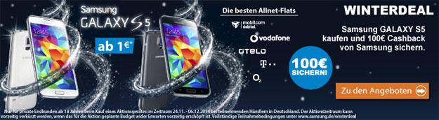 Samsung Galaxy S5 Winterdeal bei LogiTel