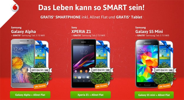 Vodafone Smart L mit Samsung Galaxy Alpha