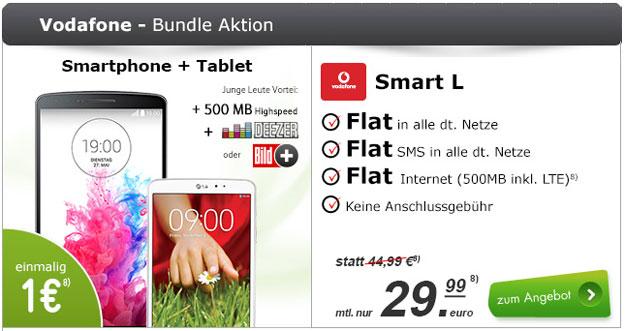 Vodafone Smart L mit LG G3 + LG G Pad