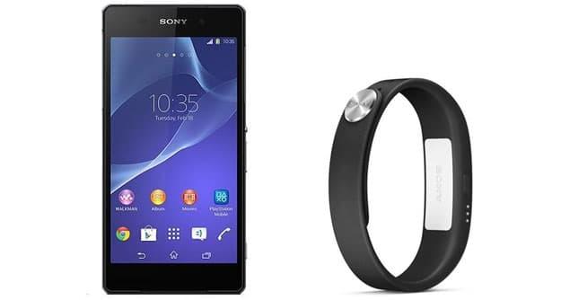 Sony Xperia Z2 + SWR10 Smartband zu o2 Blue All-in S