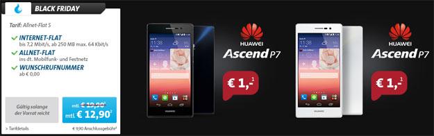 Sparhandy Allnet-Flat mit Huawei Ascend P7
