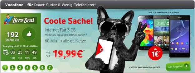 Vodafone LTE-Tarif mit 60 Freiminuten