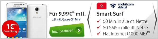 Vodafone Smart Surf ab 9,99 € mtl.