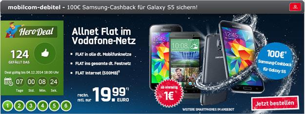 Vodafone Allnet Comfort mit Samsung Galaxy S5, HTC One (E8)