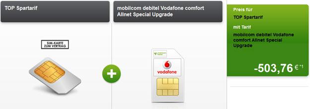 Vodafone Comfort Allnet mit 503 € Auszahlung