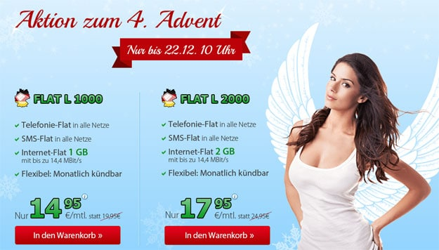 4. Advent-Aktion DeutschlandSIM Flat L