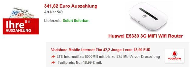 6 GB LTE-Router mit 341 € Auszahlung